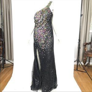 Flirt Maggie Sottero One Shoulder Jeweled Dress 50
